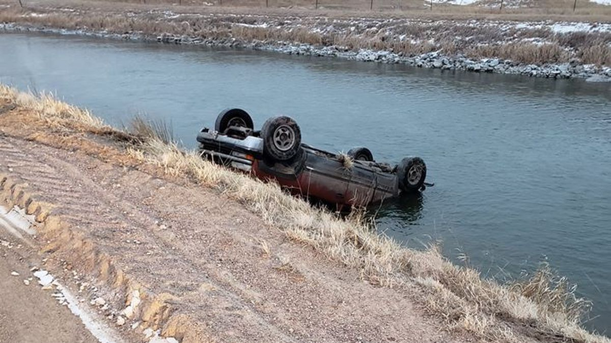 A North Platte man rolled his pickup into the canal southwest of the city Tuesday. Officers say 33-year-old Donald Bristol told them a deer ran in front of him  and that's the reason his pick up rolled into the water. (SOURCE: Lincoln County Sheriff's Office)