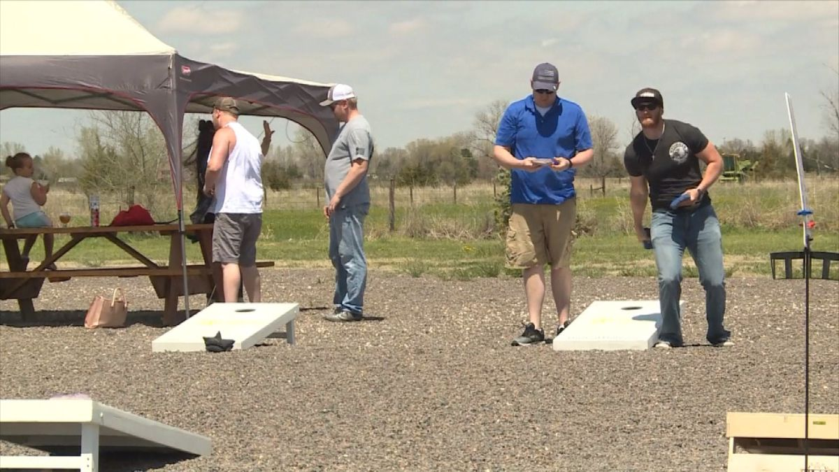 Cornhole events are one of the outings that may still take place in the upcoming months. (Credit: KNOP-TV)