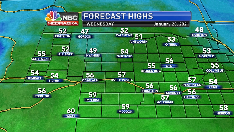 Very mild temperatures are forecast for Wednesday with plenty of sunshine and blustery...