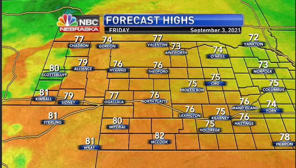 Mild temperatures in the region today