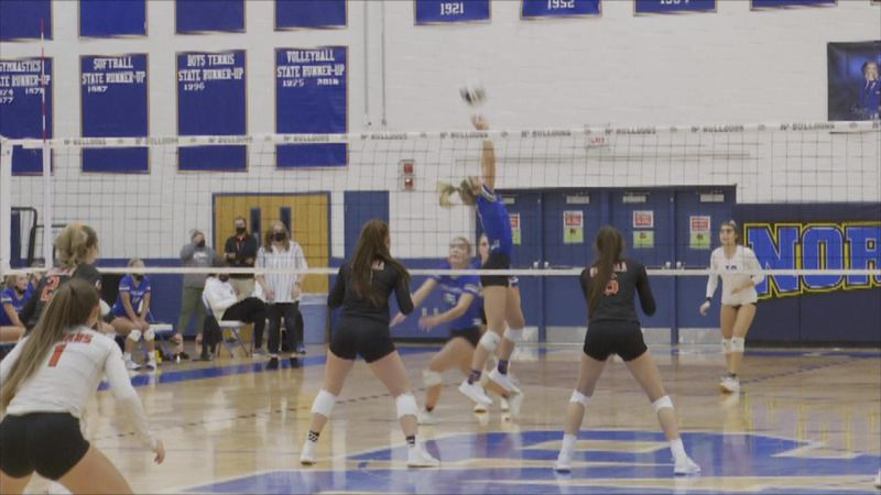 North Platte defeated Ogallala in four sets on Tuesday night.