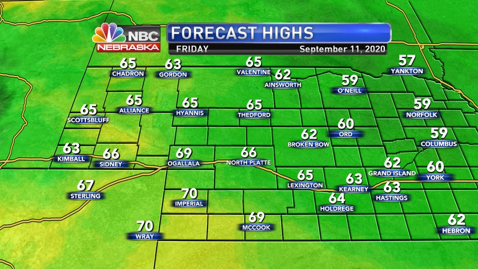 Cool temperatures expected again on Friday before warmer weather arrives by the weekend and next week.