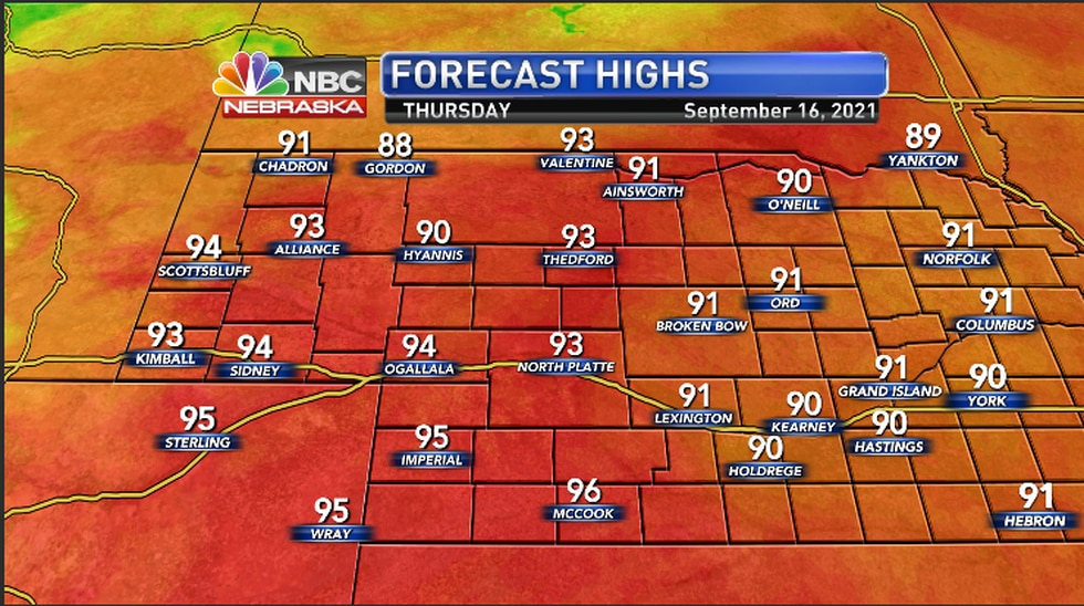 Warm temperatures to encompass the area Thursday afternoon