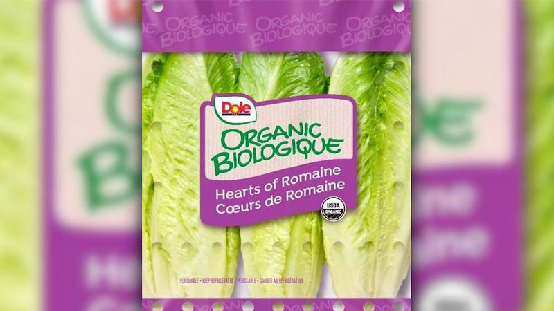 The recall includes Wild Harvest Organic Romaine Hearts and Dole Organic Romaine Hearts...