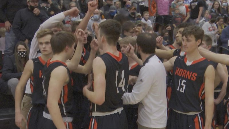 The Longhorns Celebrate an overtime District Final victory that will send them to the State...