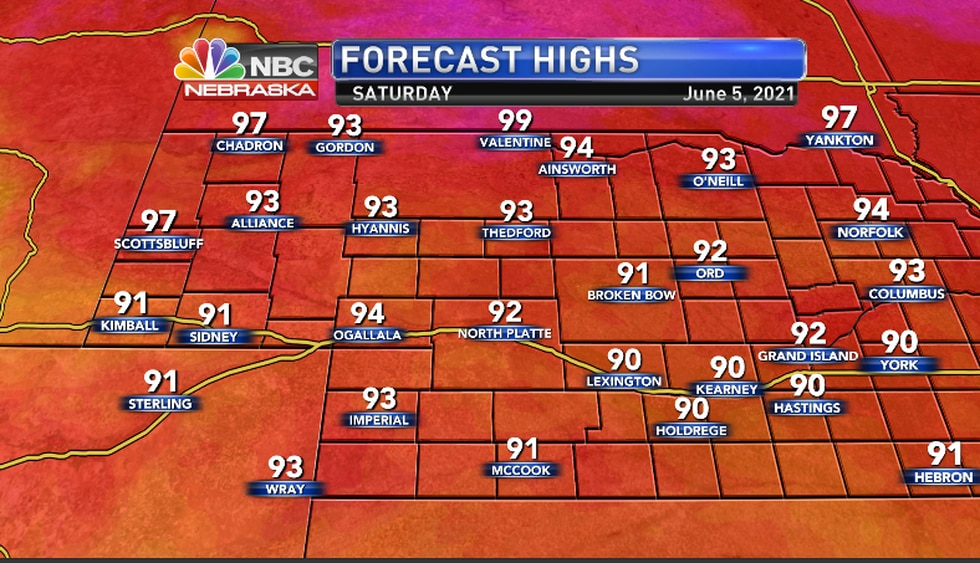 Widespread 90s... A few records may be threatened.