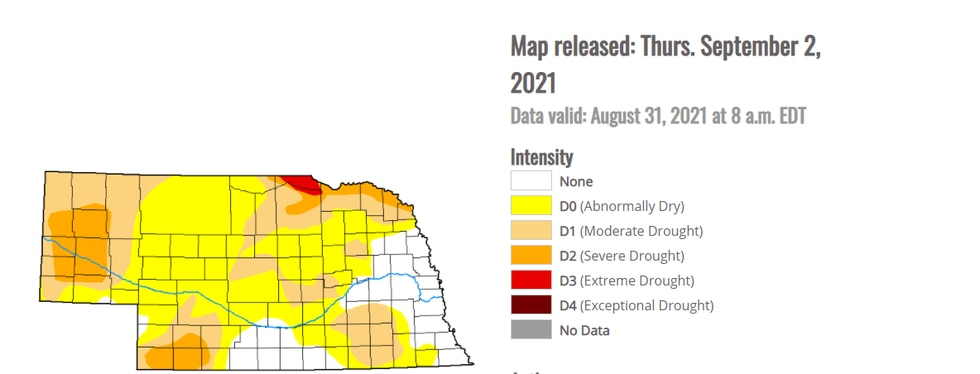 Current Drought Information for the state.