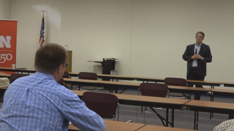 Nebraska 3rd District Representative Adrian Smith is touring his district and meeting with...