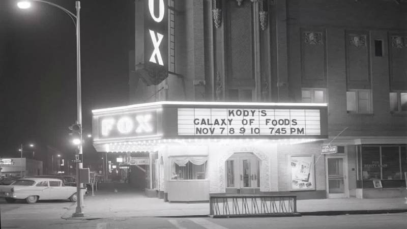 An old photo of the Fox Theater in Downtown North Platte.