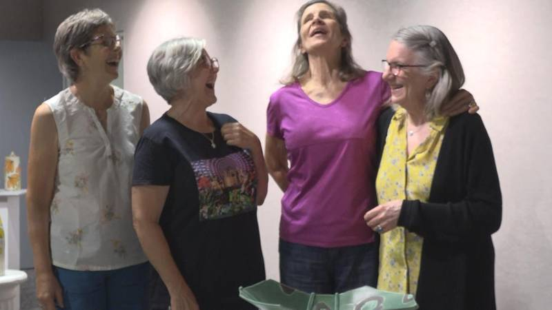 """The """"Sisters"""" exhibit is on display at the Prairie Arts Center through the month of September...."""