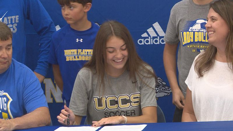 One of Western Nebraska's top athletes signing to UC Colrado Springs for basketball and soccer.