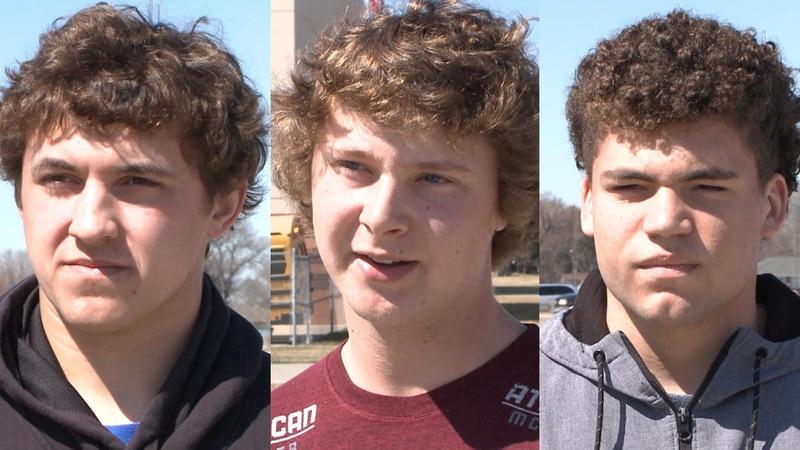 (L to R) Elliott Purdy, Jayden Jones, and Kaden Ross are North Platte seniors, who do not know...
