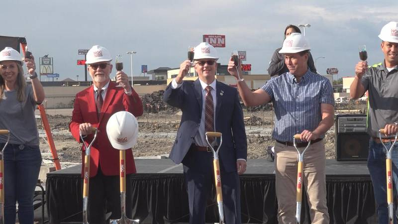 A groundbreaking ceremony was held Tuesday morning for North Platte's new mall, District 177.