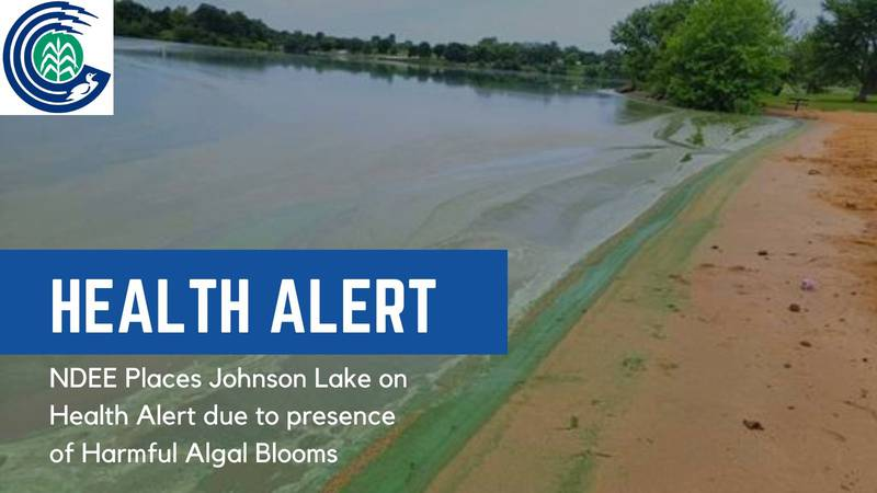 Health alert has been issued for Johnson Lake in Dawson & Gosper Counties.
