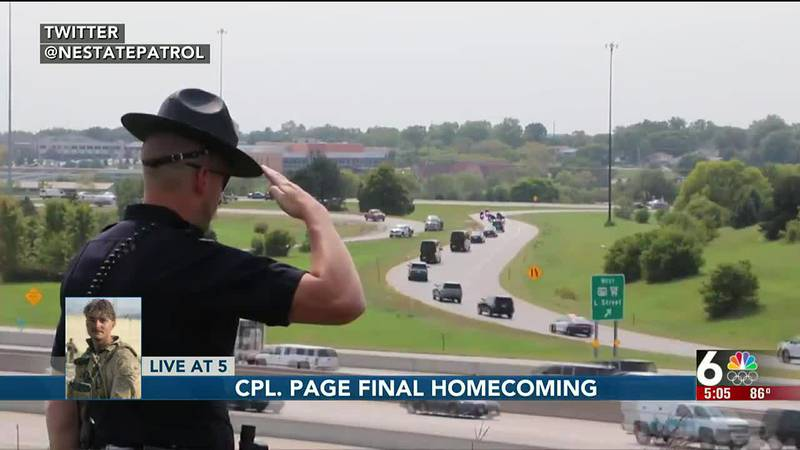 Cpl. Page final homecoming - 5 pm Richardson