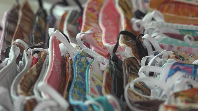 A local woman is stepping up to fill a need by sewing masks for the community.