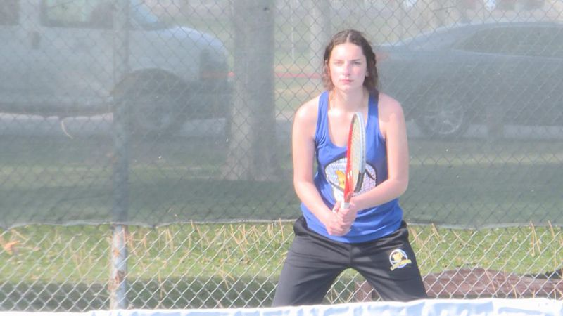 The Bulldog sophomore won both of her matches today in North Platte's 5-4 victory over Alliance.