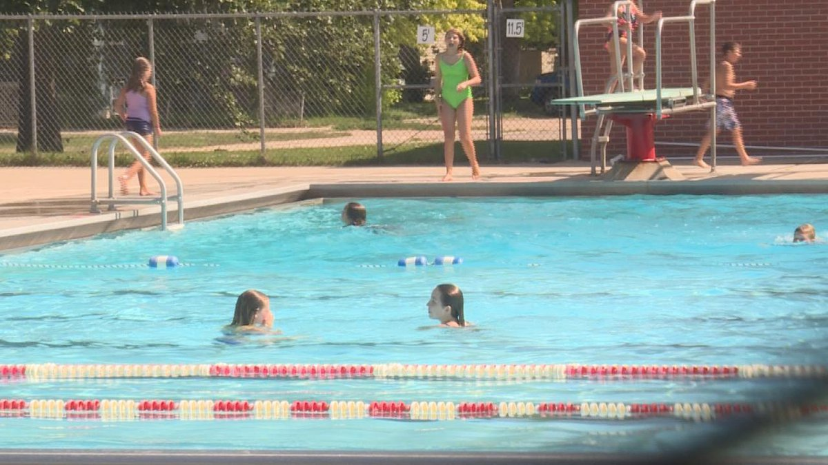 Swimmers beating the heat