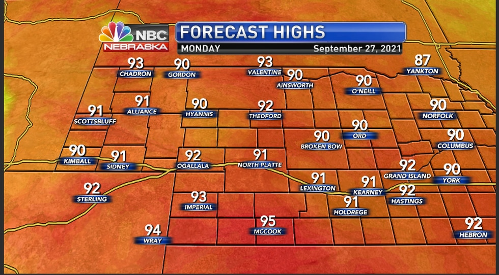 Warm temperatures to end by Monday