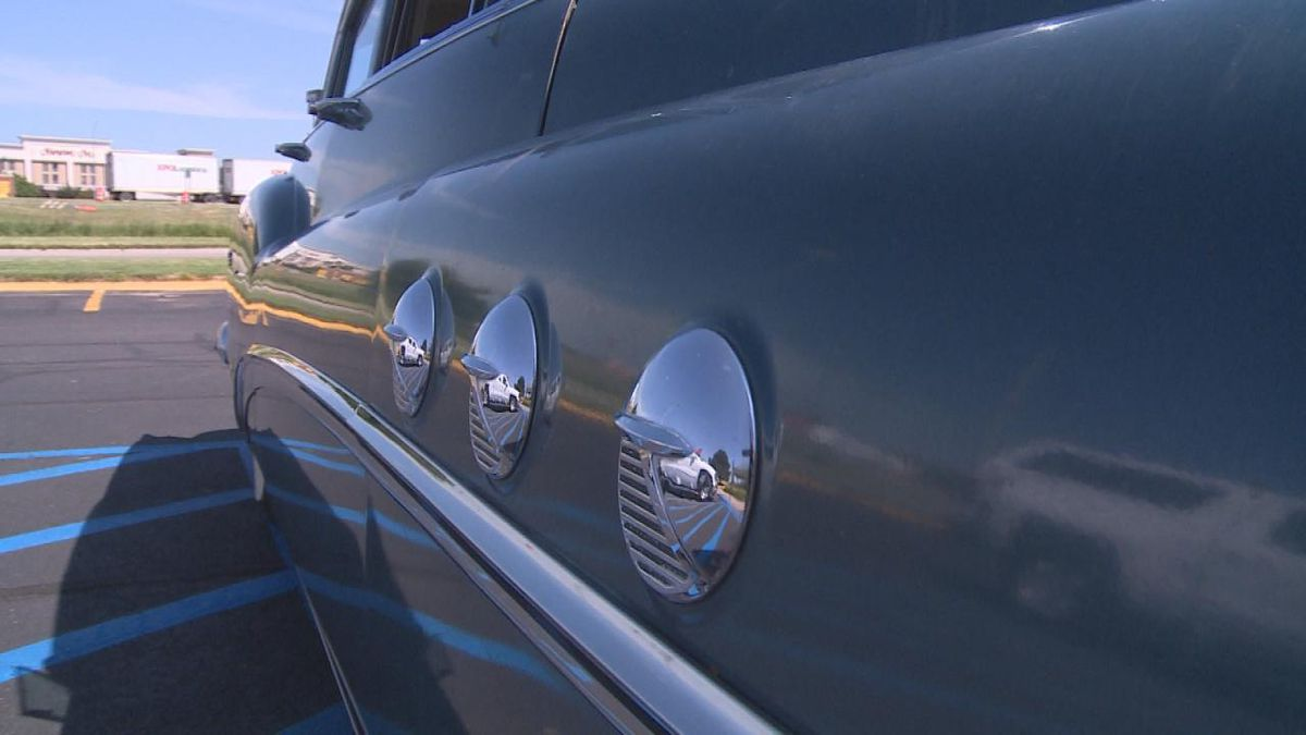 The car of the Platte River Cruise participant at registration in North Platte. (Source: KNOP-TV/Jace Barraclough)