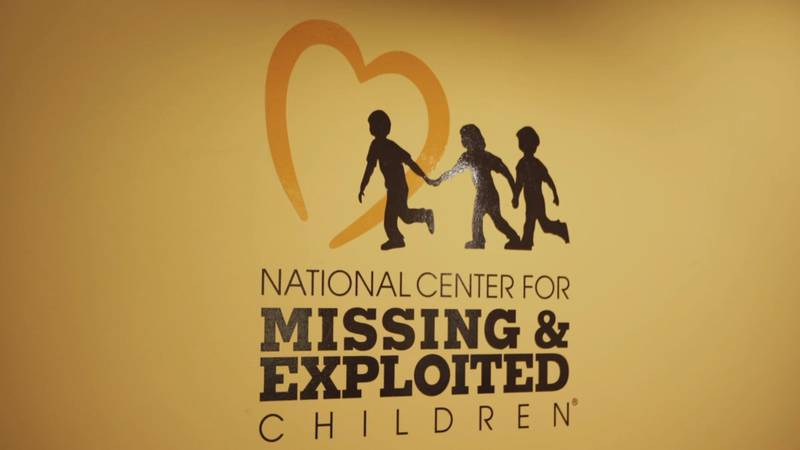 Photo still of the logo for the National Center for Missing and Exploited Children.