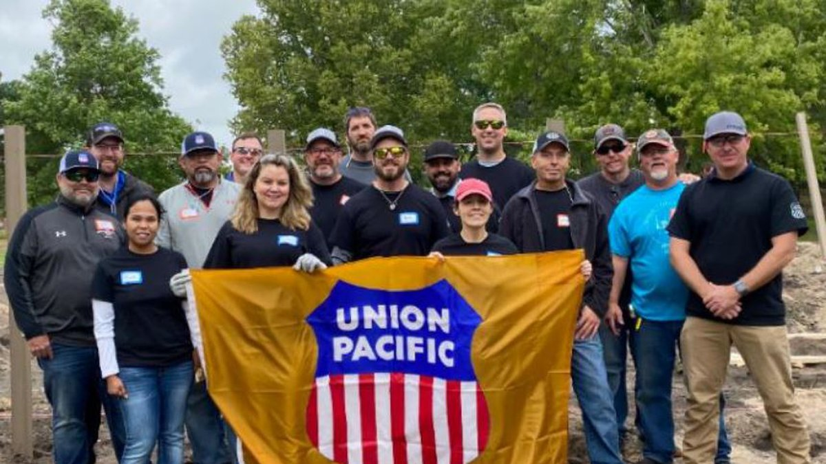 Union Pacific employees in North Platte, Nebraska, dug deep – literally – to prepare a site in...