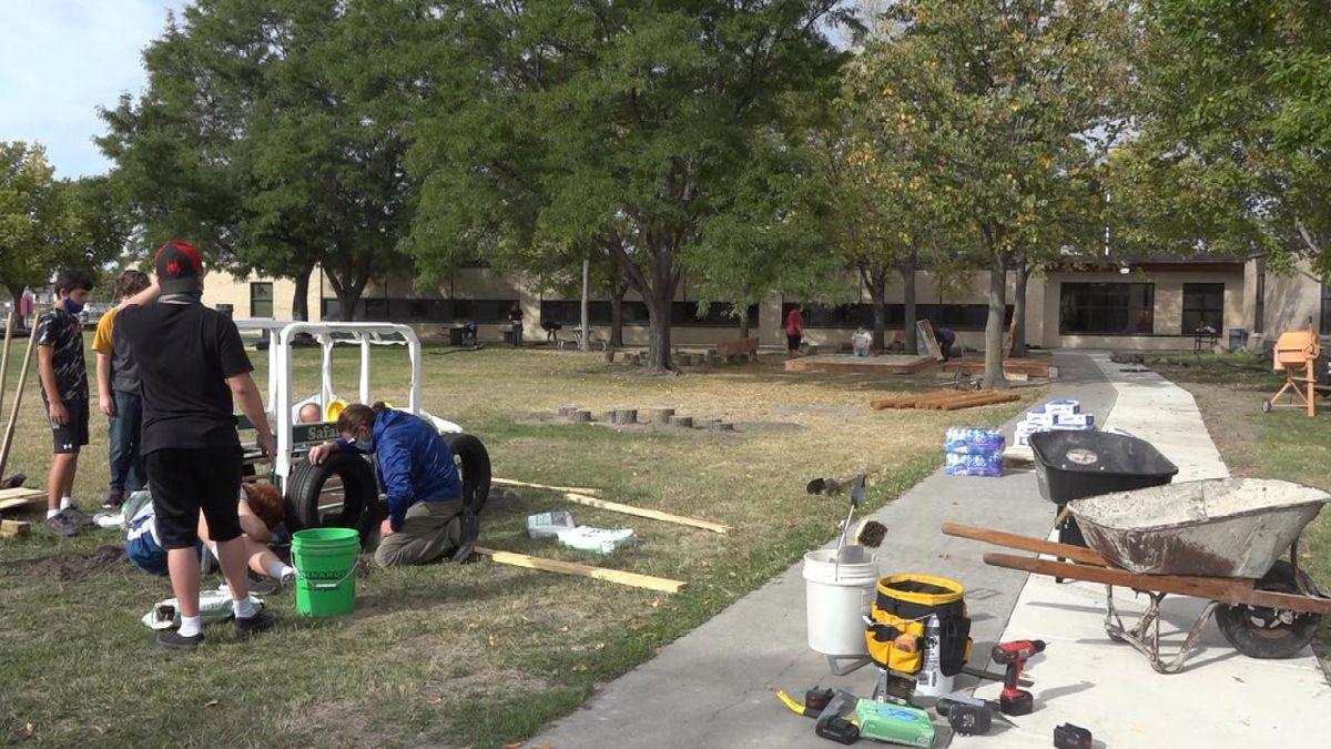 Buffalo Early Learning Center's new outdoor classroom