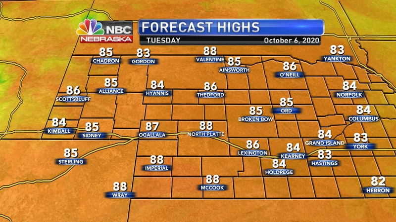 More warm weather is expected for Tuesday.