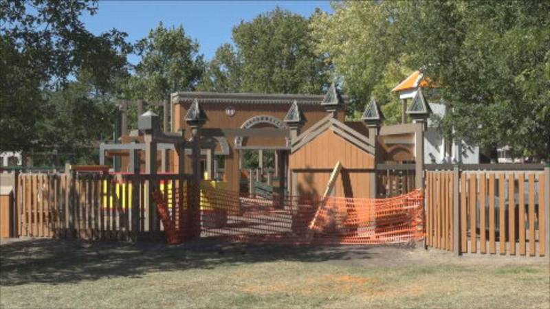 The new playground at Centennial Park is tentatively scheduled to be complete by mid-October.
