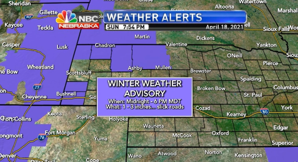 The advisory goes into effect midnight MDT.