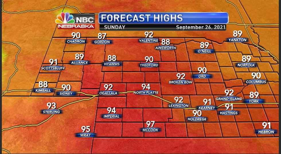 Warm conditions to continue into Sunday