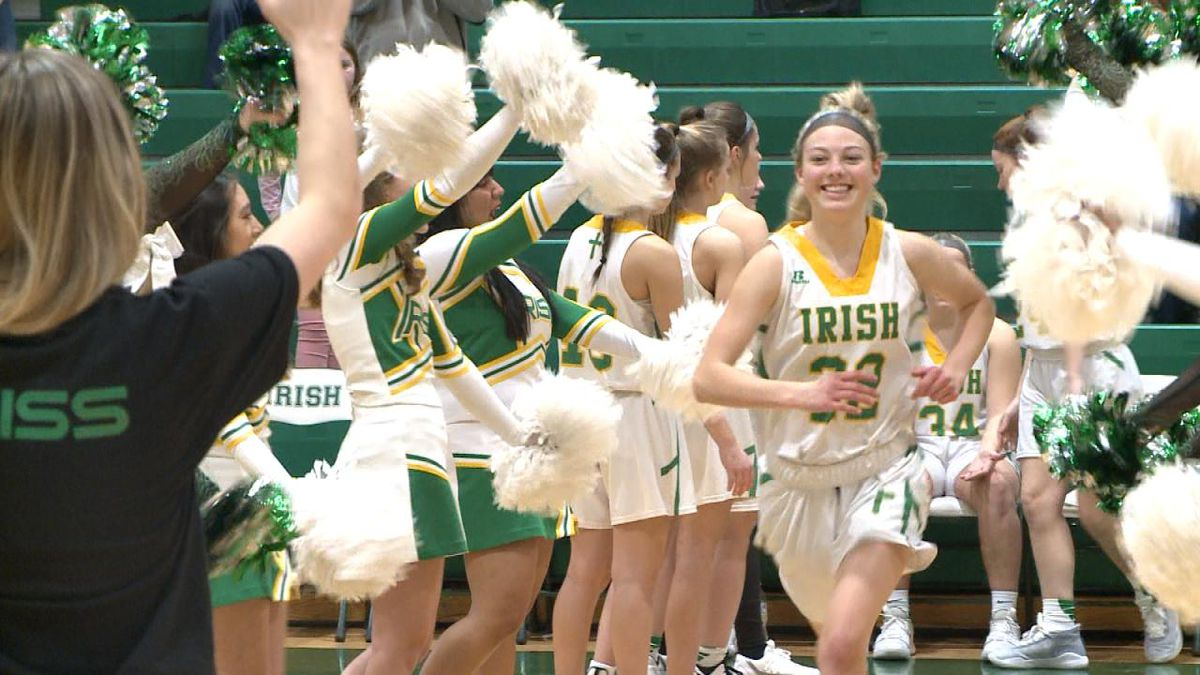 Tonja Heirigs and the St. Pat's Irish will be a two seed in the upcoming tournament. (Credit: Patrick Johnstone/KNOP-TV)