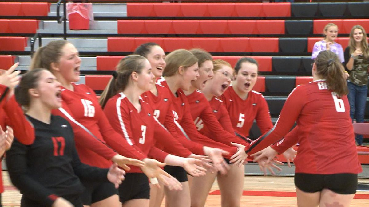 The Eagles defeated both Sandhills Valley and Paxton in two sets at their triangular on Tuesday (Credit: Patrick Johnstone/KNOP-TV)