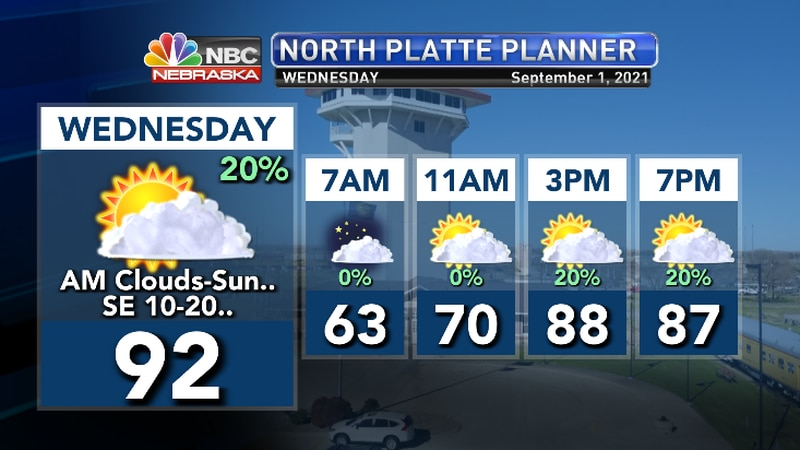 Morning clouds give way to afternoon sun and warm temps..  Rain chances late overnight..