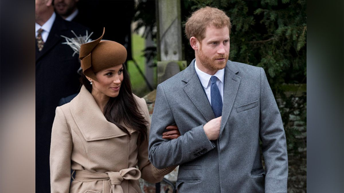 Prince Harry and Meghan Markle attend Christmas church services at St. Mary Magdalene Church on the Sandringham Estate in this 2017 file photo. (Source: zz/KGC-178/STAR MAX/IPx/AP)