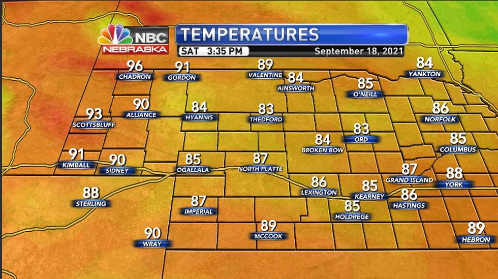 Warm temperatures across the region