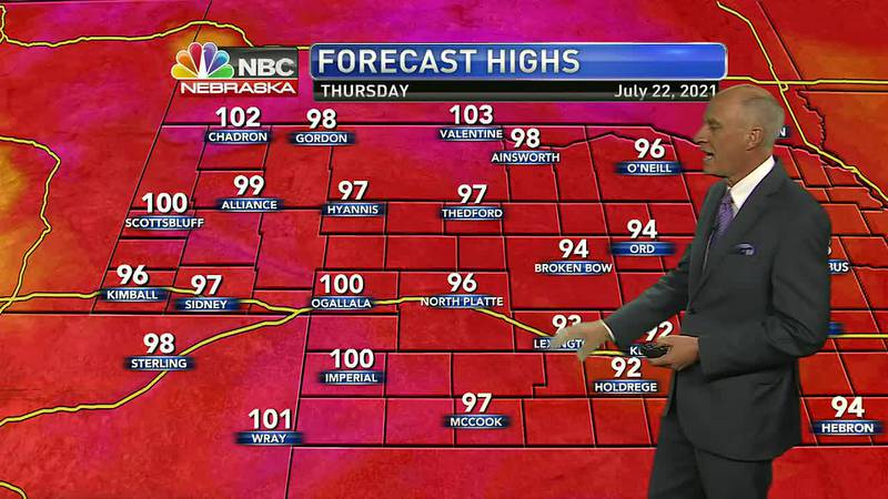 Heat continues to build as we head through the rest of the week.