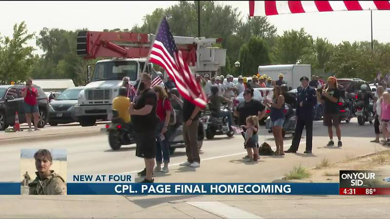 Cpl. Page final homecoming - 4 pm Melendez