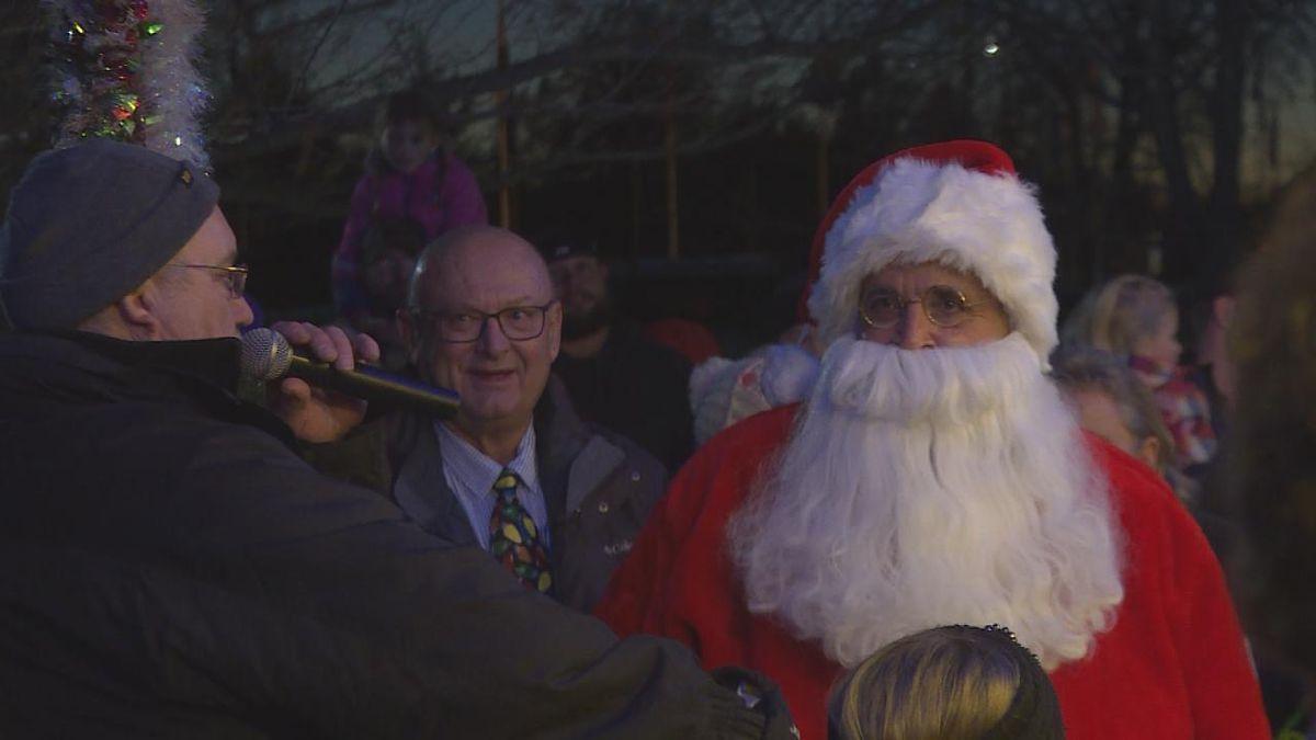 Santa visited North Platte for the lighting ceremony of Santa's Workshop at Cody Park. (Source: Jace Barraclough/KNOP)