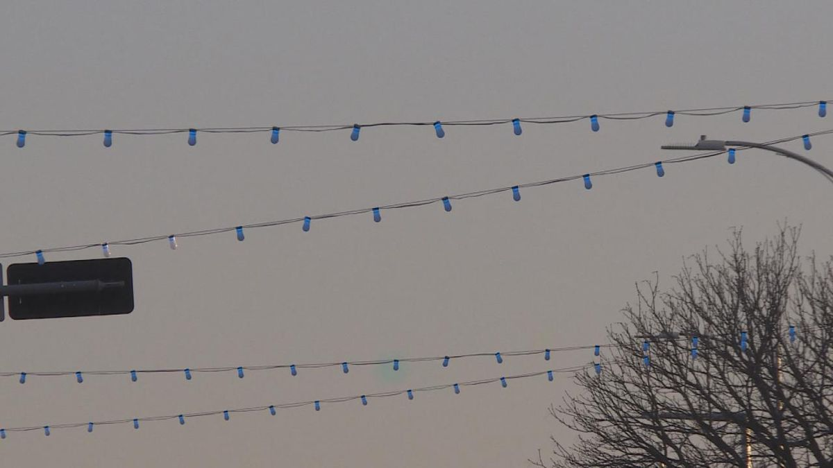 A shot of the festoon lights during the lightning ceremony.