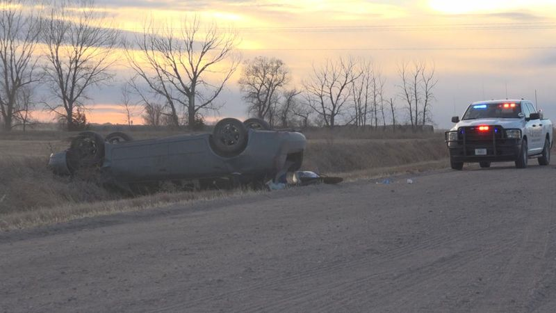 One person was injured in a rollover accident on South River Road late Thursday afternoon.