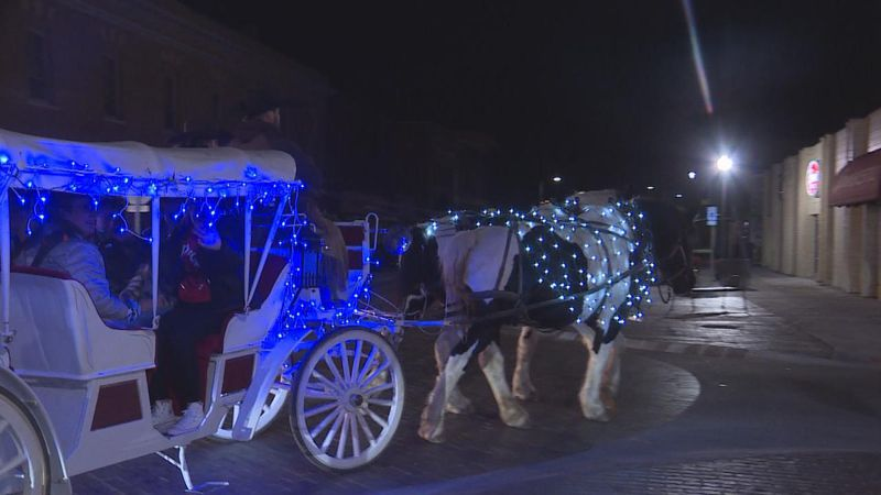 "Dusty Trails and Huskeradio partnered to bring a ""cash carriage"" to downtown North Platte for a..."