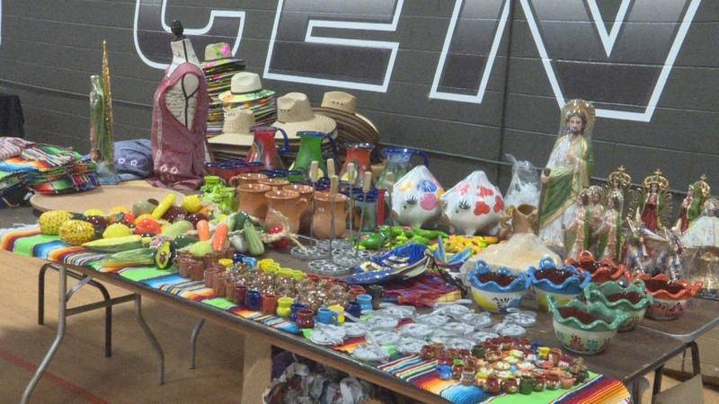Local vendors are showcasing their products during the first annual Radio X Musica Latina...