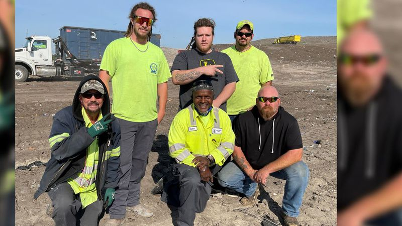 A small team of workers at the New Hanover County landfill helped a woman find her accidentally...
