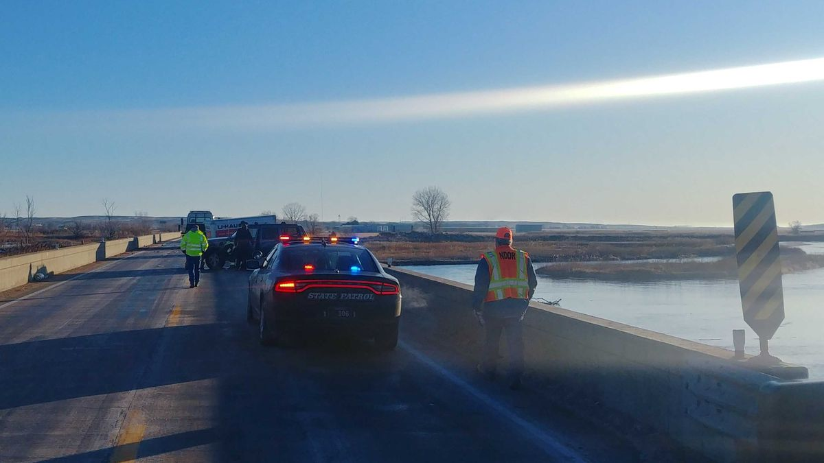 """Officials blame ice for a Tuesday accident and reminds drivers to always be on the look out for it.  Trooper Hayes say, """"The early morning hours are cold often times below freezing, so we need to keep our cruise control off and be aware of the road conditions. Just know some of these bridges and overpasses can certainly be slick. """" (SOURCE: Brayden Murdock/KNOP-TV)"""