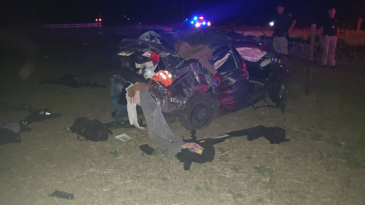 Overnight rollover crash on South Buffalo Road near Joan Street.