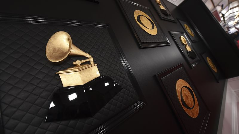 The red carpet appears prior to the start of the 62nd annual Grammy Awards in Los Angeles on...