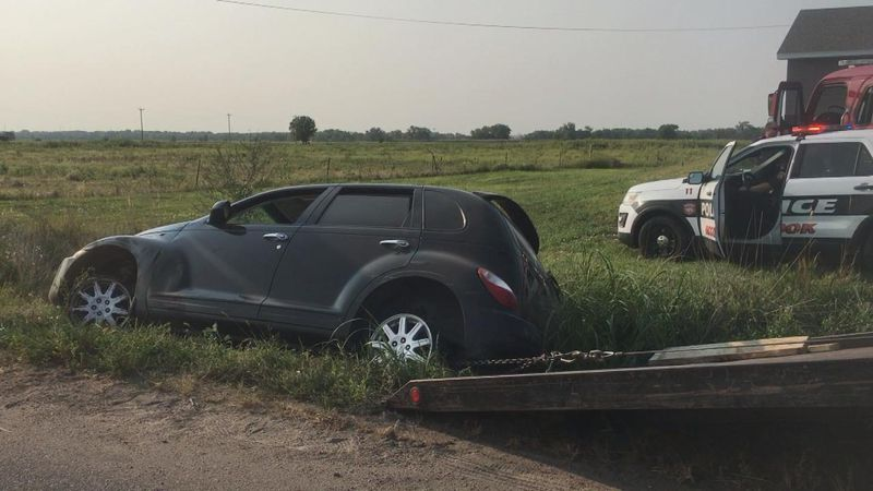 Four people walked away without injuries after their PT Cruiser crashed into a ditch Monday...