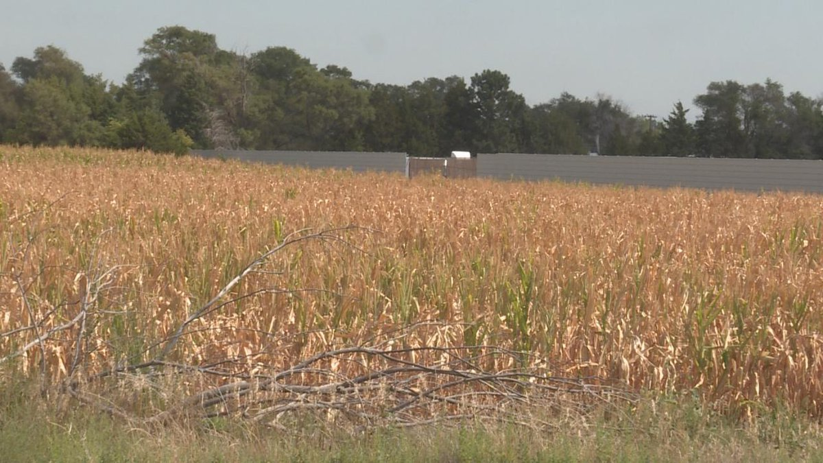 Dry fields in North Platte