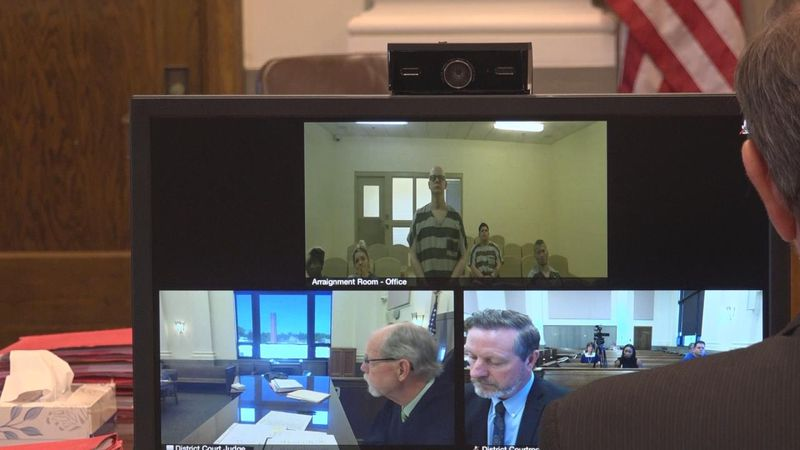 Accused suspect Keith Allen appearing before the court via video on June 7, 2021.